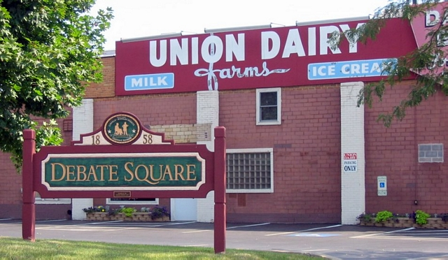 Union Dairy, oops, I mean Debate Square