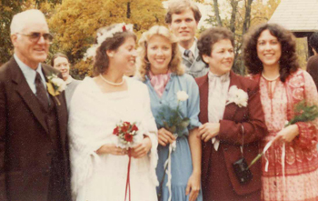 Dean, Diana, Jeanette, Larry, Georgie & Cathy at Diana's wedding